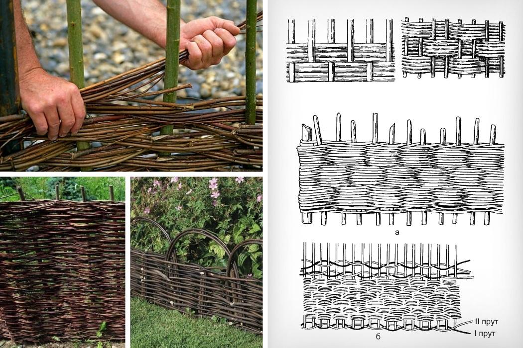 Плетёный забор для сада