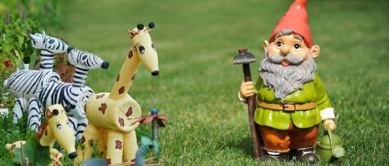 Садовые фигурки покупные и самодельные